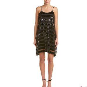NWT Ali & Jay Black Sequin Striped Mini Dress